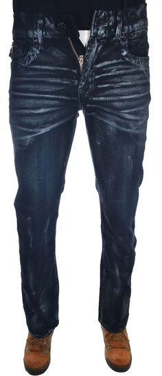 True Religion Mens Jeans Size 33 Ricky Straight Super T Platinum Night NWT $498 #TrueReligion #ClassicStraightLeg