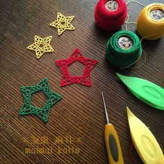 tatting lace stars