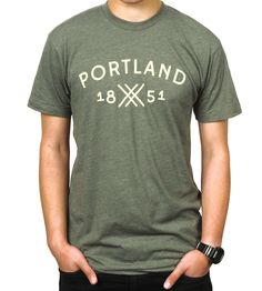 Men's Portland 1851 T-Shirt   Men's Clothing   There There   Scoutmob Shoppe   Product Detail