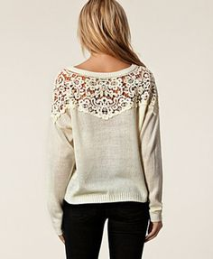 Lace back sweater Have one in teal and light pinkish coral