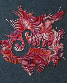 Wonderful hand embroidered type by Maricor/Maricar