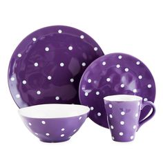 Maxwell & Williams™ Sprinkle Collection Dinnerware in Purple - BedBathandBeyond.com