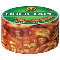 Crispy Bacon Printed Duct Tape - http://www.coolgizmogadgets.com/crispy-bacon-printed-duct-tape/