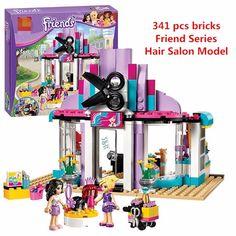 Bela 10539 compatible con lego lepin 41093 series amigos heartlake peluquería kits de edificio modelo bloques ladrillos establece juguetes(China (Mainland))