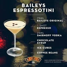 Baileys Espressotini martini recipe recipes drink recipes alcohol drink recipes liquor martini recipes liquor recipes expresso
