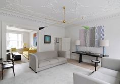stunning house in Fitzrovia, London. LOVE the ceiling feature