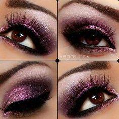 Smokey eye Pink shimmer