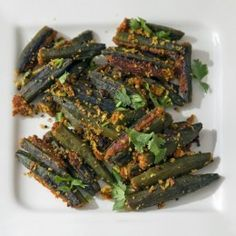 Vegetarian Recipe - Stuffed Okra