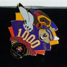 SALT LAKE CITY 2002 OLYMPIC GAMES PIN 1999 1000 DAYS 3 MASCOTS LIMITED ED W/COA