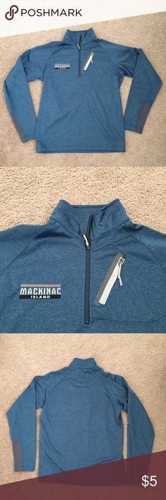 MACKINAW MICHIGAN QUARTER ZIP Tags removed never worn or washed. Comes from a smoke and pet free home. If you need more pictures please comment. Nothing wrong with it just moving out of state soon! P.S. Anything not sold by Christmas is going to Goodwill! OUTFITTER TRADING Tops Sweatshirts & Hoodies