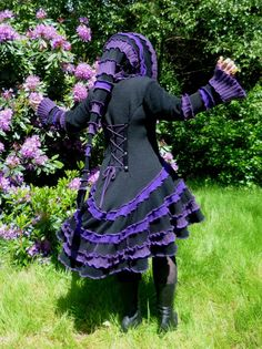 Gypsy Elf Bohemian Pixie Gothic Steampunk Vampire coat from recycled sweaters