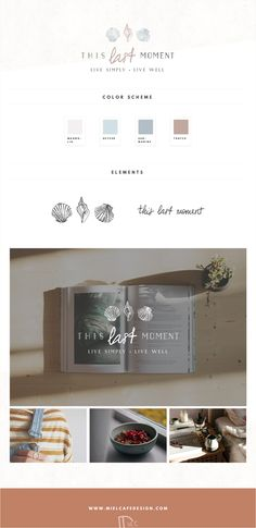 This Last Moment - Brand Identity Design Custom Illustrated Logo