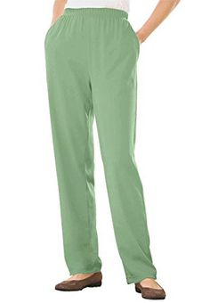 New Trending Pants: Woman Within Plus Size 7-Day Knit Pants (Sage,M). Woman Within Plus Size 7-Day Knit Pants (Sage,M)  Special Offer: $8.99  477 Reviews Our best-selling, best-fitting knit 7-day pants from Woman Withinwear like a dream and complement all your existing tops at the best possible price out there. Providing easy, comfortable, chic style,...