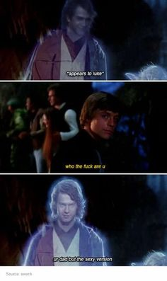 Anakin Skywalker & Luke Skywalker || LMAAAO STOPPPDB I CRIED AT THIS BIT DONT RUIN THIS MOMENT FOR ME