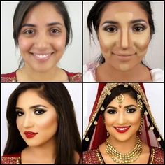 Best way for applying foundation base for you bridal makeup by yourself or at home..  #Bridalmakeup #Brides #makeup #Bridal #makeuptips #makeuptutorials