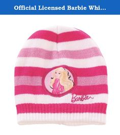 Official Licensed Barbie White & Pink Beanie - Licensed Barbie Mattel Merchandise. Barbie Beanie - Licensed Barbie Mattel Merchandise. 100% Polyester.
