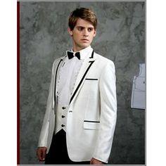 Vintage Edwardian White 4Piece Tux Tuxedos for Men Wedding Prom SKU-123175