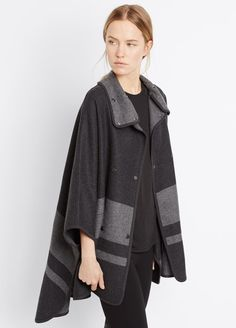 Blanket Stripe Cape - Vince Fall 2015