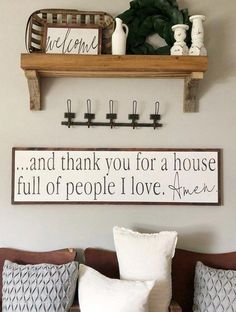And Thank You For a House Full of People I Love Amen- Family Sign- Love Sign- Living Room Sign- Mantle Decor- Large Wood Sign- Distressed - Decoration Farm House Living Room, Room Design, Living Room Furniture, Handmade Home Decor, Living Room Decor, Mantle Decor, Home Decor, Room Remodeling, Living Decor