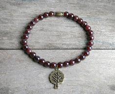 """Bracelet perles de Grenat - Bracelet """"Vitalité"""" Lithothérapie , en pierres naturelles - Bijoux en pierres semi précieuses : Bracelet par joaty"""