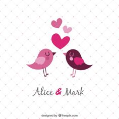 Template Wedding Invitation with birds - Freepik.com-Birds-pin-1