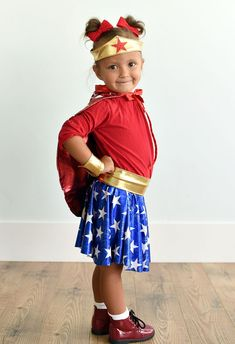 Toddler Wonder Woman Costume DIY Halloween Outfits For Women, Costumes For Women, Woman Costumes, Toddler Costumes, Diy Costumes, Costume Ideas, Halloween Costumes, Wonder Woman Tutu, Wonder Woman Halloween Costume