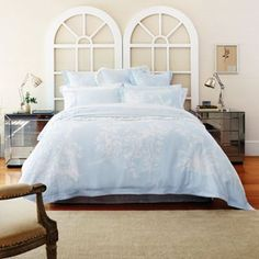 Sheridan Light blue 'Porchester' bed linen- at Debenhams.com