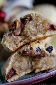 Cookies aux Marrons, Oléagineux et Chocolat #cookie