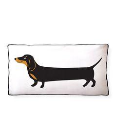 NAKED DECOR Dachshund Puppies Throw Pillow | zulily