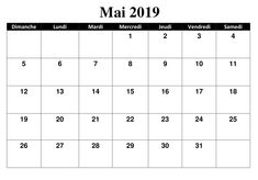 Calendrier Vba Excel 2020.48 Best Calendrier Mai 2019 Images In 2019 Calendar May