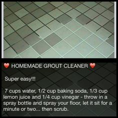 Kitchen grout cleaner