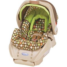 Graco - SnugRide Infant Car Seat, Lively Dots $92.  These carseats are very popular because they are stylish and safe.  They fit into many different types of strollers which is handy.