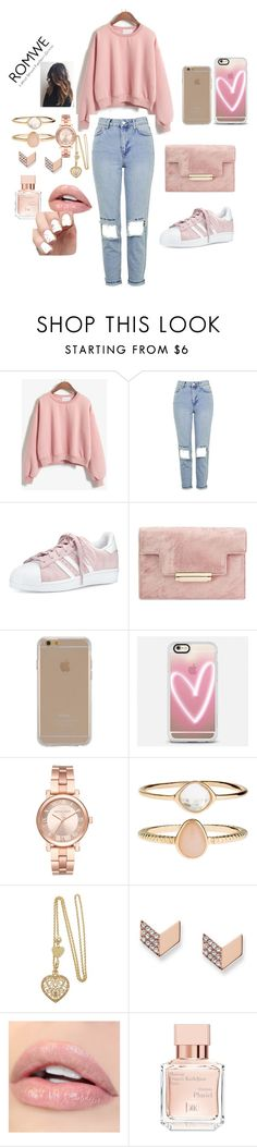 """""""why are you all in my business"""" by morena-10000000000 ❤ liked on Polyvore featuring Topshop, adidas, Agent 18, Casetify, Michael Kors, Accessorize, FOSSIL and Maison Francis Kurkdjian"""