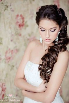 wedding hairstyle; via elstile