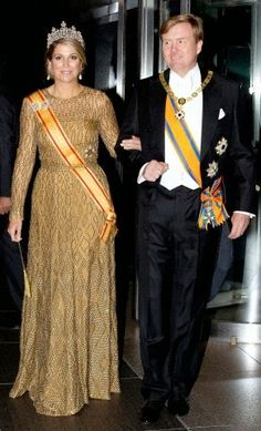 Dutch King Willem-Alexander and Queen Maxima arrive for a State Dinner at the Imperial Palace in Tokyo, Japan, 29.10.2014.