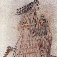 1955 . Mãe e Filho Morto