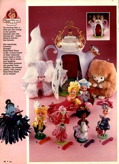 Rose Petal Palace from a 1984 catalog #vintage #1980s #toys