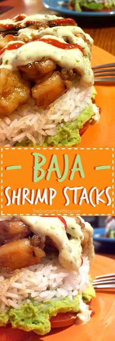 This is one of those recipes that will really WOW 'em!! These Baja Shrimp Stacks are zesty, healthy, and super impressive! (But actually easy to make!) The perfect light and healthy dinner or appetizer. I personally love shrimp ^.^