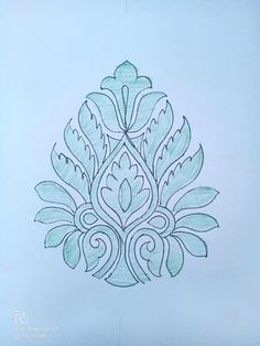 Peacock Embroidery Designs, Floral Embroidery Patterns, Simple Embroidery, Embroidery Stitches, Rangoli Borders, Rangoli Border Designs, Hand Embroidery Dress, Hand Embroidery Tutorial, Mehndi Designs Book