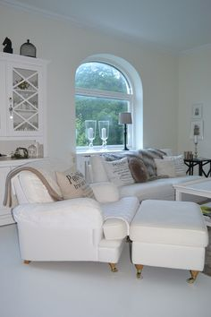 All white room- someday! Decor, Furniture, Room, House, Indoor Design, Home, Living Spaces, Classy Living Room, Interior Design