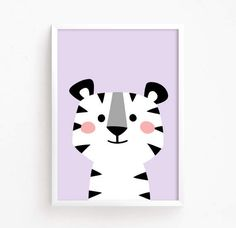 Baby Tiger Kitty Poster Cute Printable art animal poster