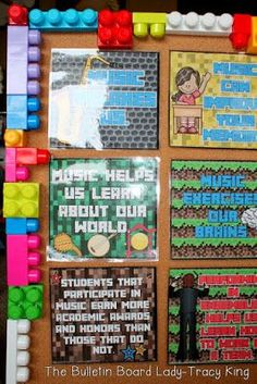 14 Unusual and Incredibly Fabulous Bulletin Board Borders Legos, pool noodles, poker chips...holy moly!  So many unusual and incredibly fabulous ideas for bulletin board borders.
