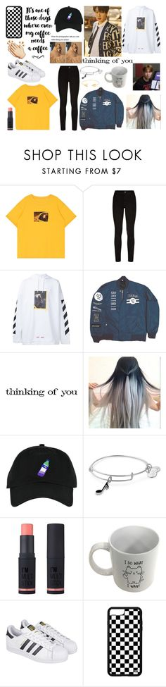 """""""Ideal Type Chani"""" by amyliannebarlow ❤ liked on Polyvore featuring Paige Denim, Off-White, Tim Holtz, Alex and Ani, Charlotte Russe, adidas and Lord & Taylor"""
