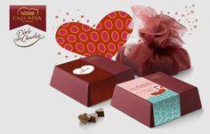 """ST VALENTINES"".  Nestlé Caja Roja. ""Diselo con chocolates"" PACKAGING. ILLUSTRATION. ONLINE."