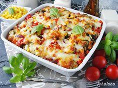 Ala piecze i gotuje: Zapiekanka gyros Mozzarella, Vegetable Pizza, Lasagna, Mashed Potatoes, Cauliflower, Food Porn, Cooking Recipes, Vegetables, Ethnic Recipes