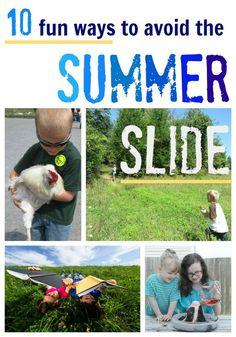 10 fun ways to avoid the summer slide  