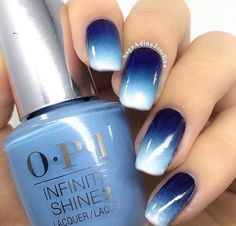 Farbverlauf Nägel / / blau Ombré Nail Design / / dunkelblau bis weiß – Nageldesign, You can collect images you discovered organize them, add your own ideas to your collections and share with other people. Ombre Nail Designs, Winter Nail Designs, Nail Art Designs, Nails Design, Navy Blue Nail Designs, Blue Design, Blue Nails With Design, Tropical Nail Designs, Pretty Nail Designs