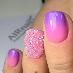 pink manicure #pink #manicure #nails #fashion #nailart #gelnails #instagood #nail #photooftheday #naildesign #pretty #gelpolish #nailswag #nailpolish #style #nailsoftheday #gel Pink Ombre Nails, Pink Manicure, Blue Nails, Classy Nail Designs, Pink Nail Designs, Glitter Acrylics, French Tip Gel Nails, Nailart, Video Pink