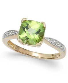 https://yroo.com/af/1771514/ruid/21327 Peridot (2-1/5 ct. t.w.) and Diamond Accent Ring in 14k Gold | 40% OFF