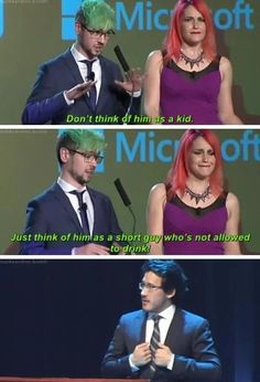 I mean I watched Jack presenting the awards and I don't remember that lol Jacksepticeye Markiplier Pewdiepie, Markiplier Memes, Stupid Funny, Hilarious, It's Funny, Funny Stuff, Youtube Memes, Darkiplier, Jack And Mark